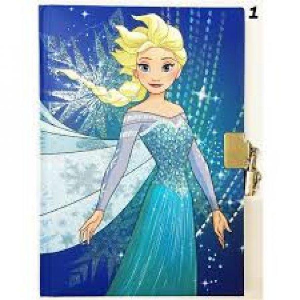 Frozen 14x20 104 Yaprak Kilitli Hatıra Defteri