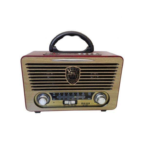Meier M-115BT USB/SD Bluetooth Şarjlı Nostaljik Radyo