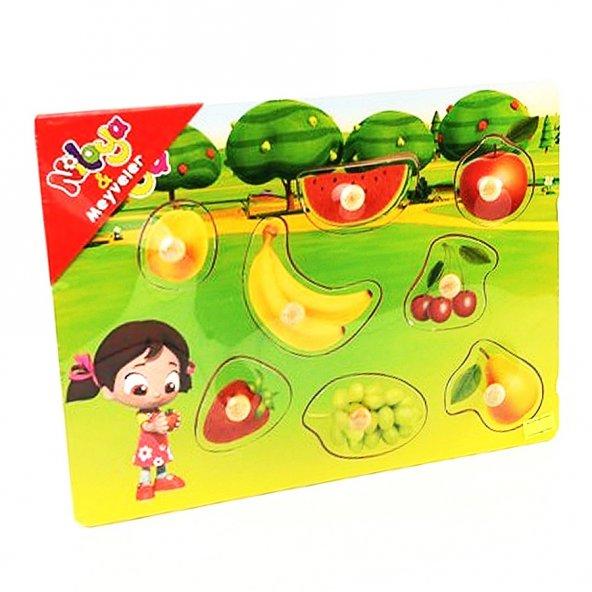 Pal Niloya Ahşap Puzzle Meyveler