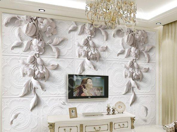 Relief Kabartma 3D Duvar Kağıtları