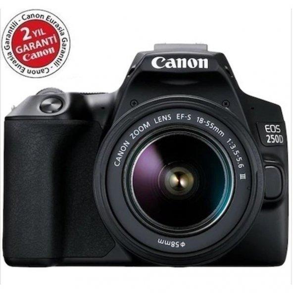 Canon EOS 250D 18-55mm DC III Fotoğraf Makinesi (Canon Eurasia Garantili)