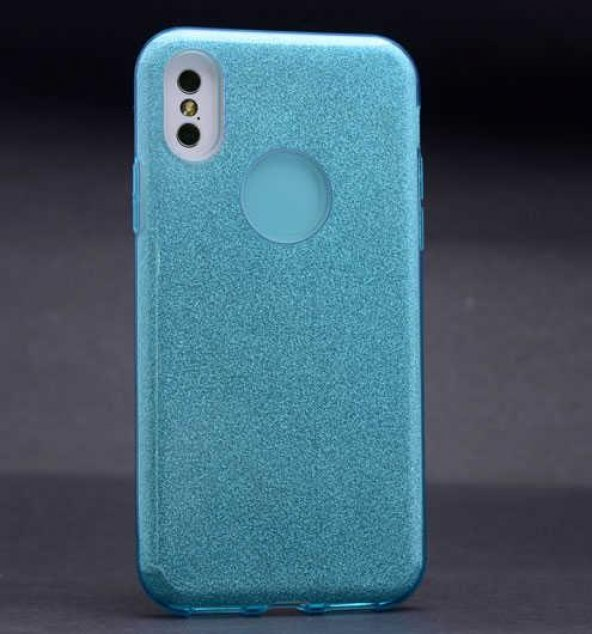 Edelfalke Apple iPhone X Shining Silikon Kılıf Mavi