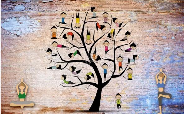 Yoga Salonu Duvar Kağıtları
