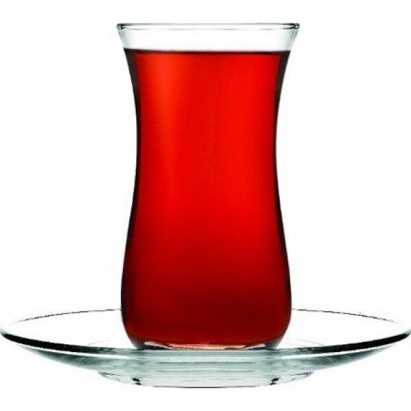 Paşabahçe Fit 12 Parça Çay Seti 6 Çay Bardağı 6 Çay Tabağı