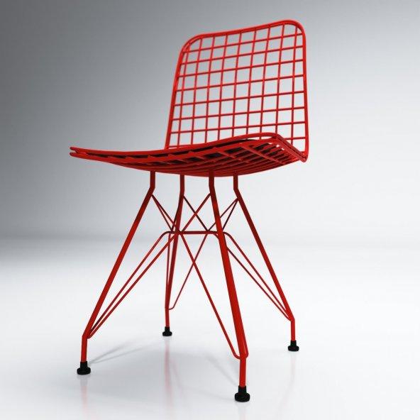 Knsz kafes tel sandalyesi 1 li mazlum krmkrm ofis cafe bahçe mutf