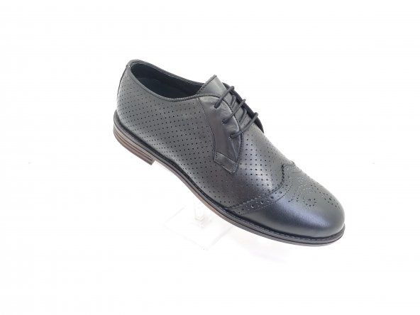 New Prato Erkek Ayakkabı 101-L Siyah Antik Deri