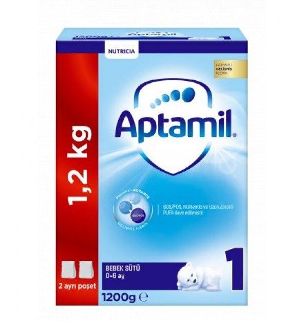Aptamil 1 Numara Bebek Sütü 1200 gr Akıllı Kutu skt:03/2021