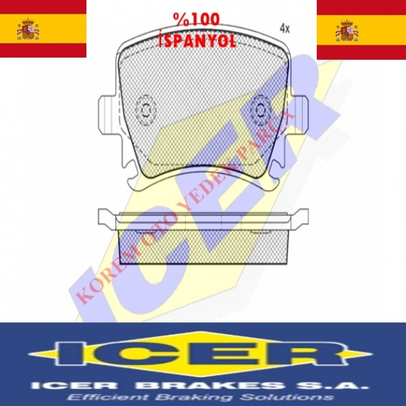 AUDİ A1-A3-A4-A6-A8-TT 2003-2009 ARKA BALATA