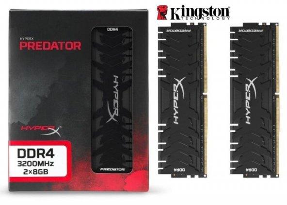Kingston HyperX Predator 16GB (2x8) 3200 MHz DDR4 HX432C16PB3K2/16 Gaming Ram