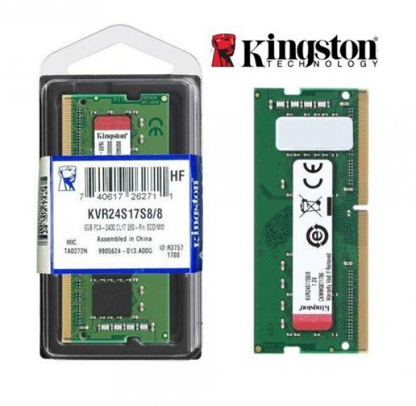 Kingston 8GB 2400MHz DDR4 SODIMM KVR24S17S8/8 Notebook Ram