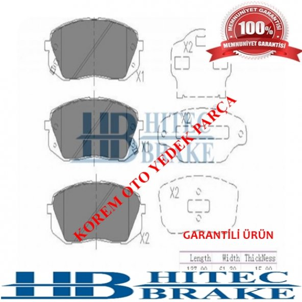 HYUNDAİ İX35-TUCSON-SPORTAGE-CARENS 2008- SONRASI ÖN BALATA