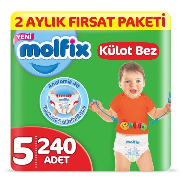 Molfix Külot Bez 5 Beden Junior 2 Aylık Fırsat Paketi 240 adet