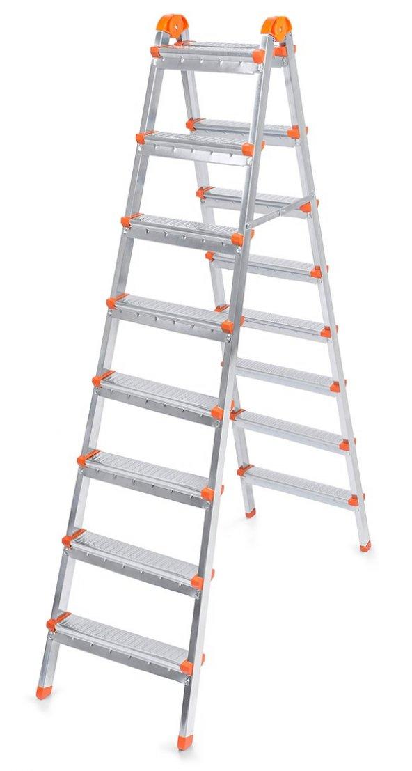 Doğrular Çift Çıkışlı 8+8 Basamak Merdiven