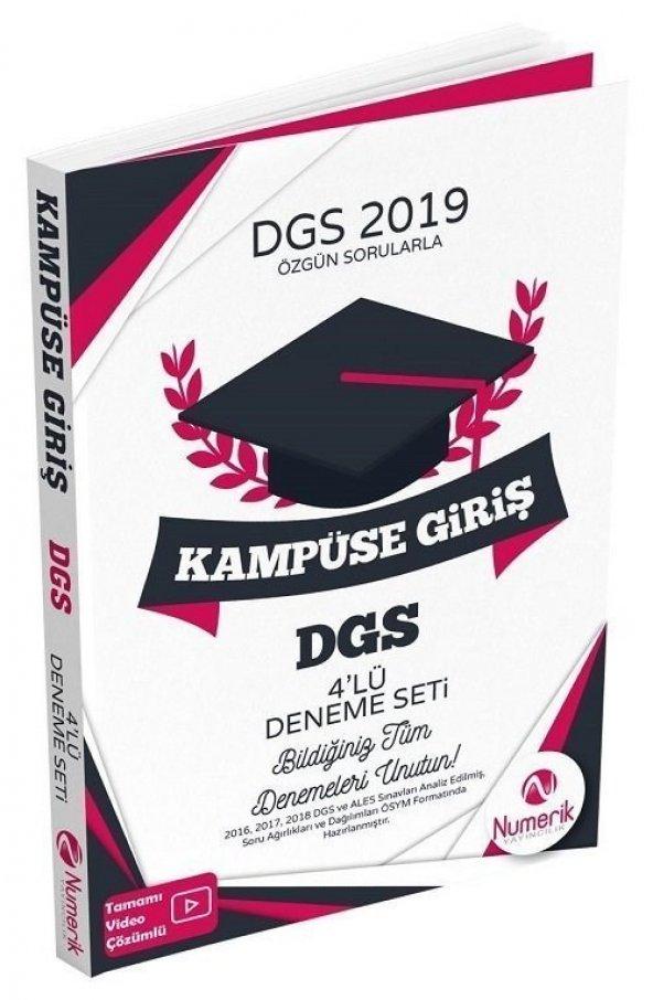 Numerik Yayıncılık 2019 DGS Kampüse Giriş Video Çözümlü 4 Deneme Sınavı