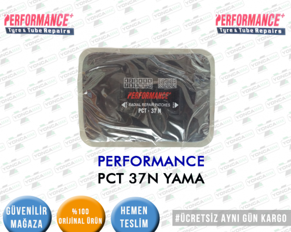 LASTİK YAMASI PERFORMANCE PCT 37 175x125 MM