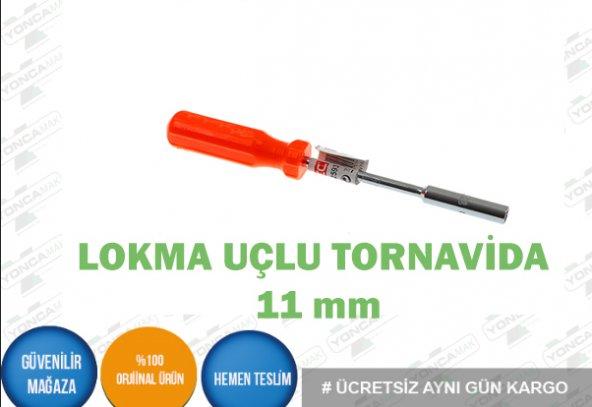 11 MM LOKMA UÇLU TORNAVİDA
