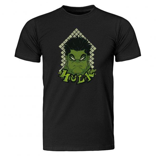 Marvel Hulk Face Siyah Tişört