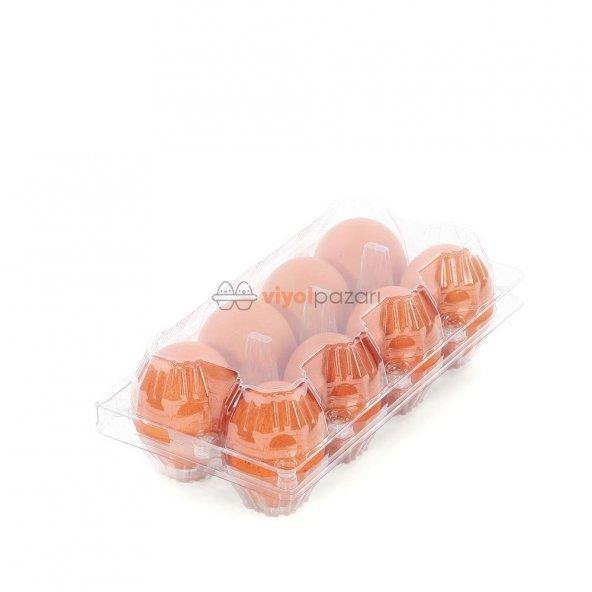 8 Li Şeffaf Yumurta Viyolü 900 Adet