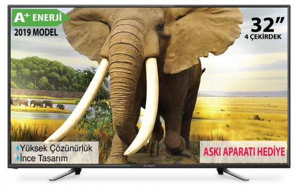 Awox 32 İNÇ 82 Ekran A+ Enerji Dahili Uydulu HD LED TV+ASKI APARAT