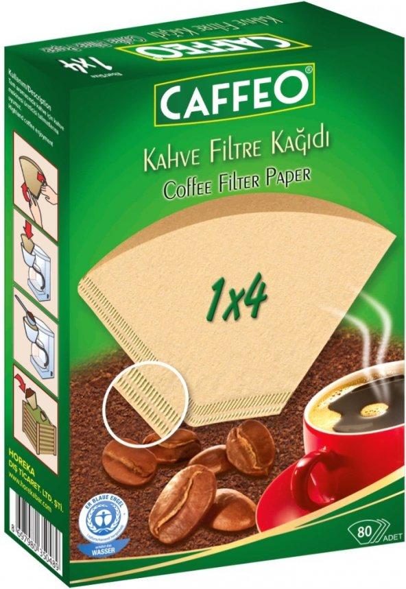 Caffeo Filtre Kahve Kağıdı 1x4 4 Numara 80li Paket Ücret Alıcı