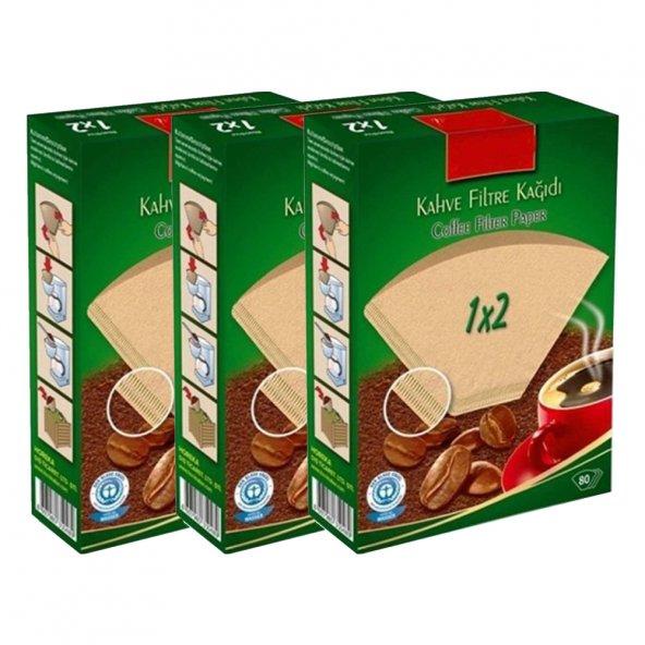 Caffeo Filtre Kahve Kağıdı 1x2 2 Numara 80li 3lü Paket + Kargo