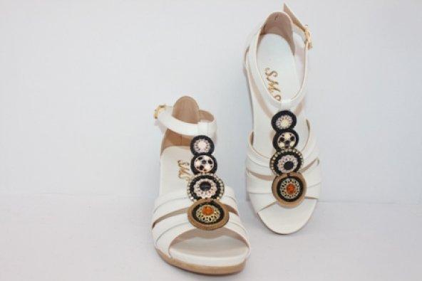 SMS Beyaz Kadın Günlük Ayakkabı 1085
