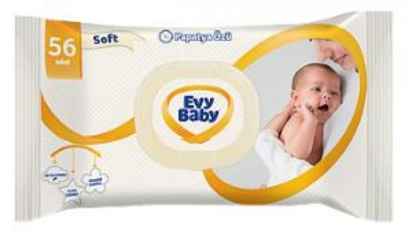 Evy Baby Islak Havlu Soft Kapaklı 60 LI