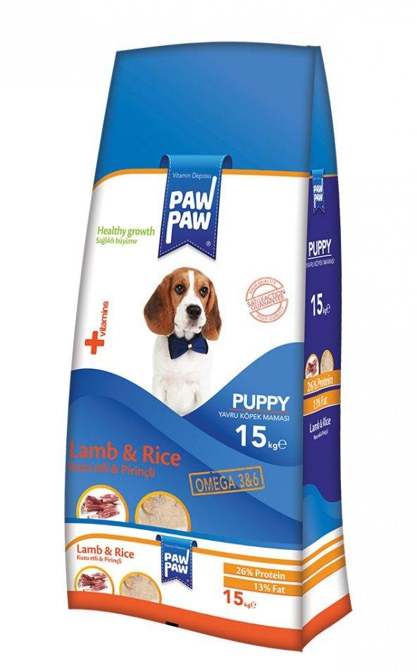 Paw Paw (PawPaw) Puppy Kuzu Pirinçli Yavru Köpek Maması 15 Kg