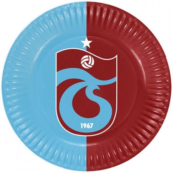 Trabzonspor Karton Tabak 23 cm 8li
