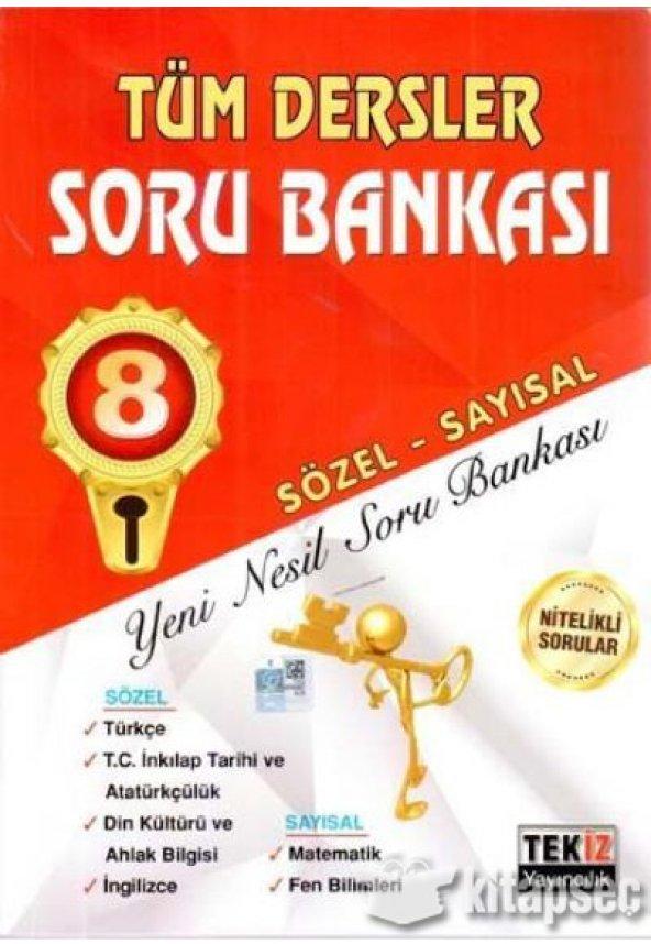 8. Sınıf Tüm Dersler Sözel Sayısal Soru Bankası Tekiz Yayıncılık