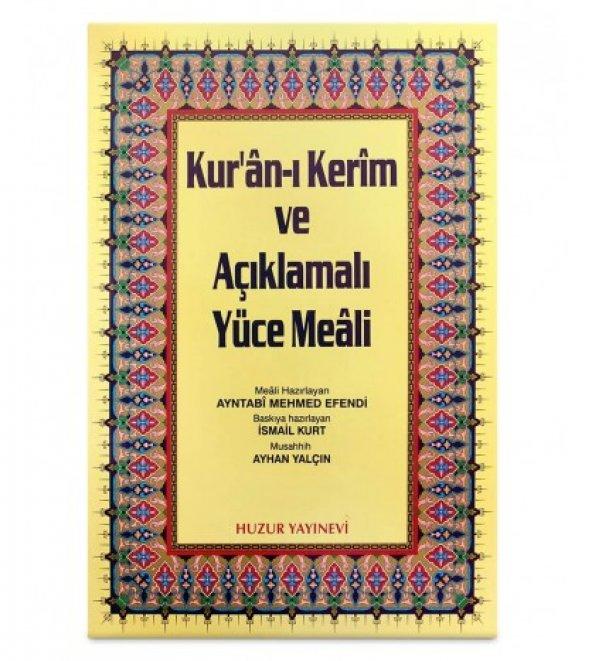 Rahle Boy Kuran-ı Kerim ve Açıklmalı Yüce Meali (Şamua-Ciltli) /