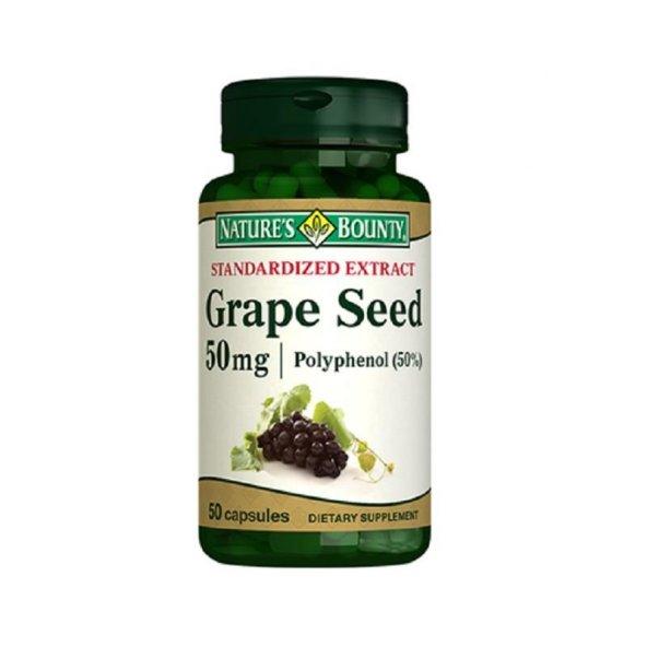 Natures Bounty Grape Seed 50 Polyphenol 50 mg 50 Kapsül