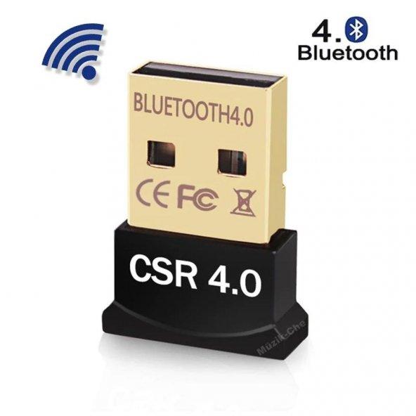 Bluetooth V4.0 USB Dongle Adaptör 20m Mesafeli Csr 4.0 Tak Çalış