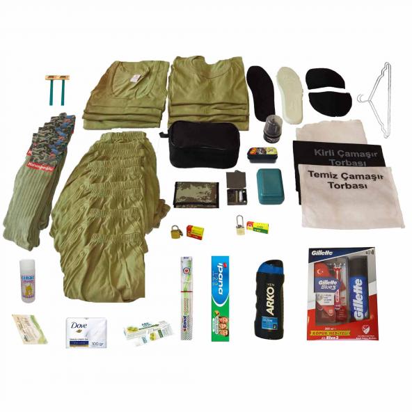 9'Lu Öneri Asker Seti Bedelli ve Acemi Asker Malzemeleri Paketi