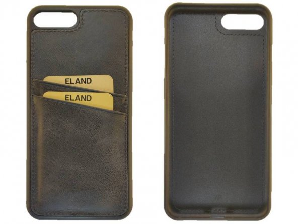 Eland Deri Kaplama / Iphone 7-8 Plus / Siyah