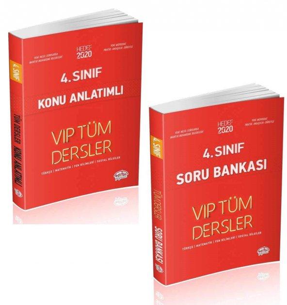 Editör Yayınları 4. Sınıf Tüm Dersler Konu Anlatımlı ve Soru Bankası