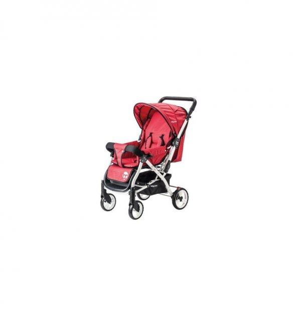 Baby Care Dinamico Çift Yönlü Bebek Arabası - Kırmızı