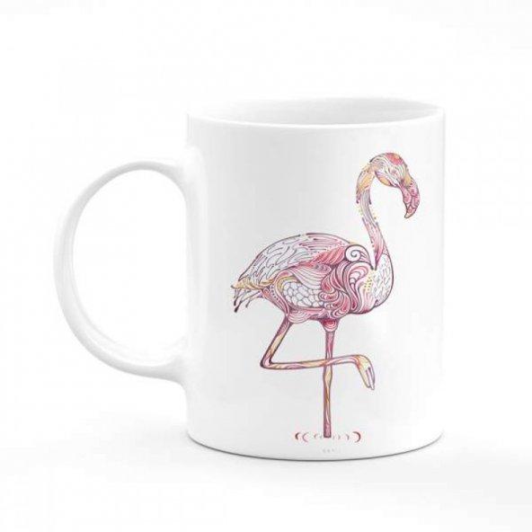 Flamingo Baskılı Kupa