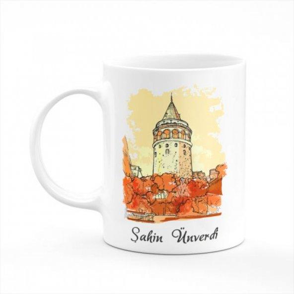 Galata Kulesi Kişiye Özel İsimli Kupa Bardak