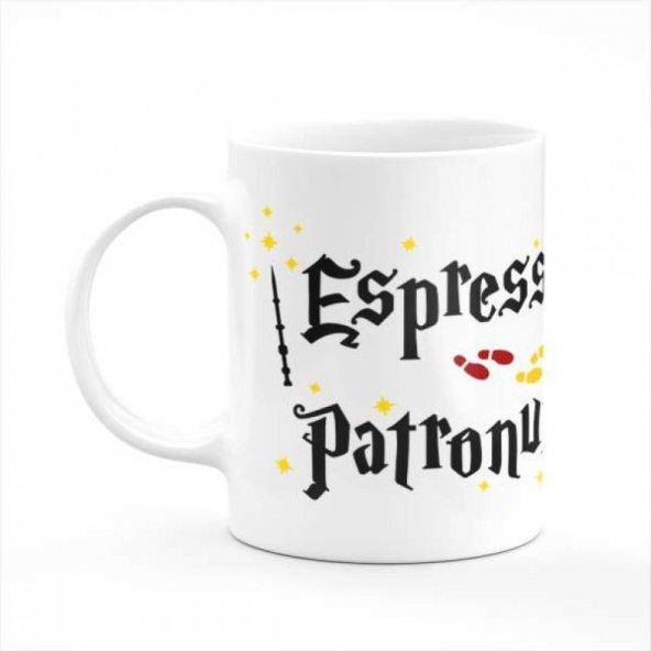 Harry Potter - Espresso Patronum Yazı Baskılı Kupa
