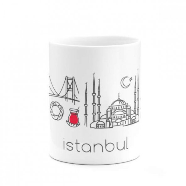 İstanbul Özel Tematik Çalışma Baskılı Kupa