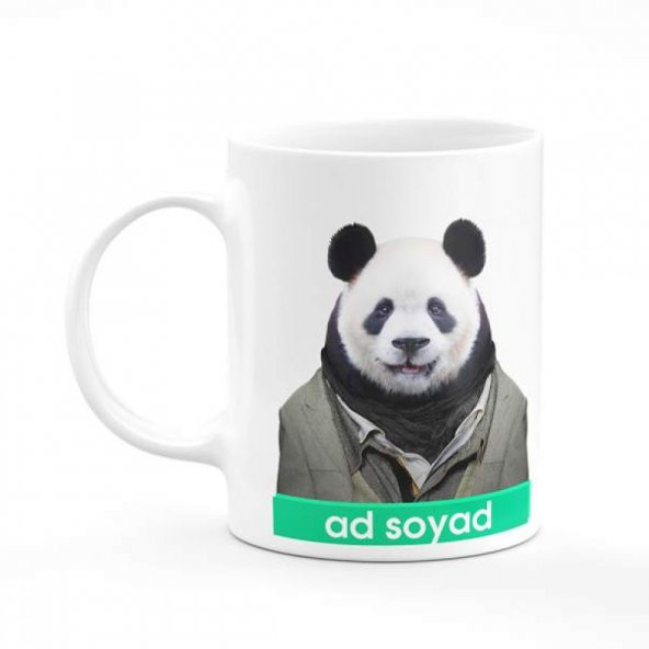 Panda İsme Özel Baskılı Kupa