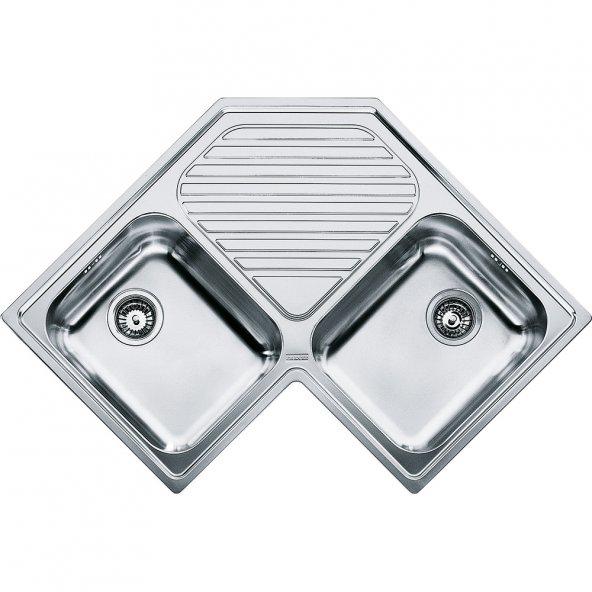 Franke Köşe PNX 621-E Paslanmaz Çelik Evye