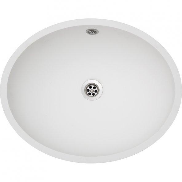 Franke SOLİD SURFACE EVYELER BS 110 White Banyo Lavabosu
