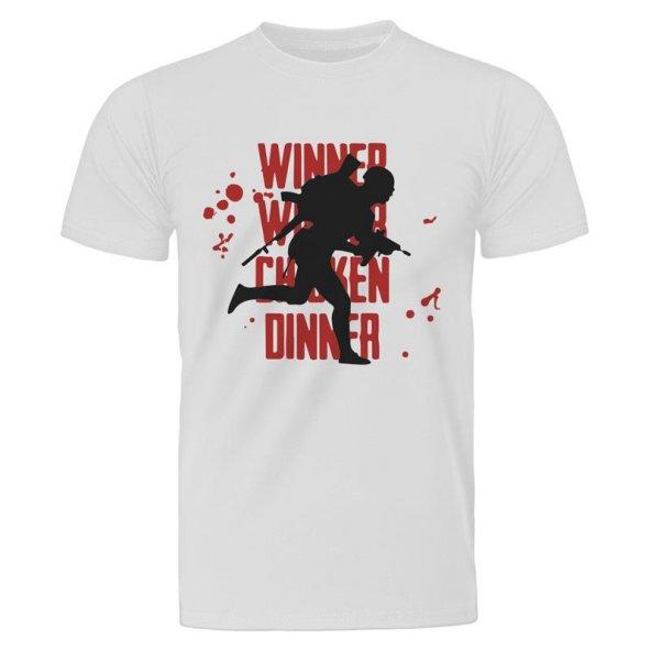 PUBG Runner Soldier Beyaz Tişört