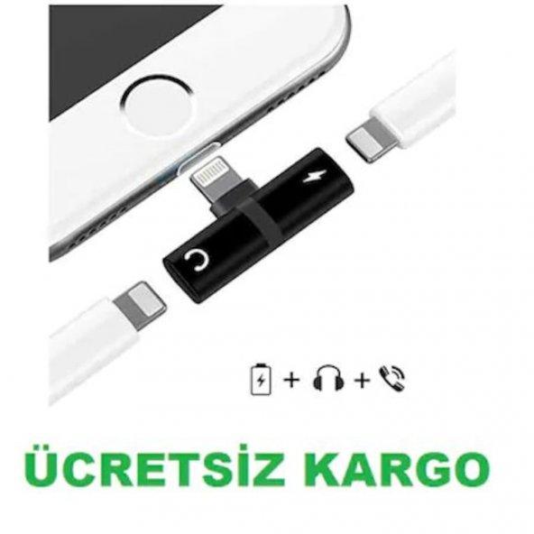 Kulaklık Şarj Dönüştürücü Çoğaltıcı İphone X 7 8 Plus Max Aparat