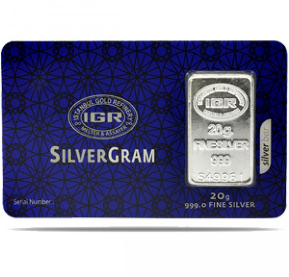 20 gr Gram Külçe Gümüş