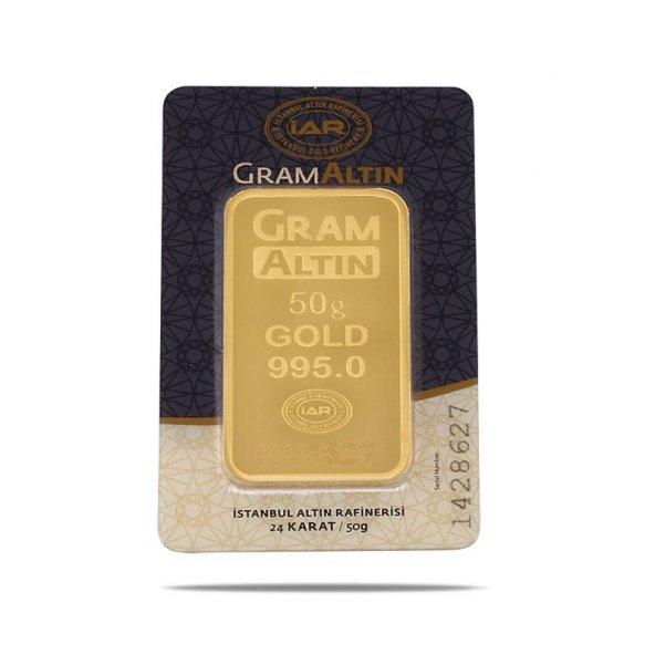 50 gr 24 Ayar Gram Külçe Altın