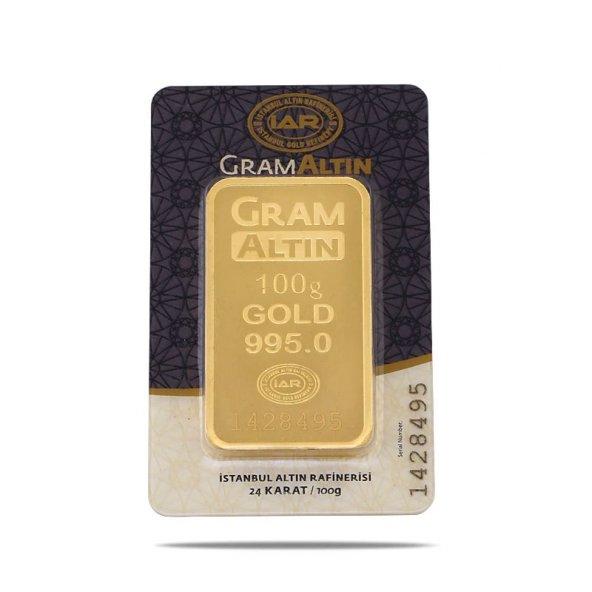 100 gr 24 Ayar Gram Külçe Altın