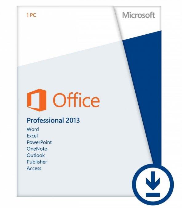 Microsoft Office Professional Plus 2013 (Dijital İndirilebilir Lisans)